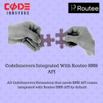 CodeInnovers Integrated With Routee SMS API