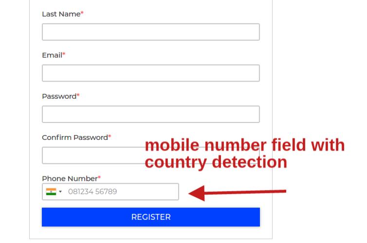Bagist Phone login and otp verification Extension Registration Page